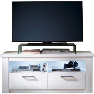 TV Lowboard Georgia Pinie Weiß Struktur Nachbildung 139 X 58 X 48 Cm