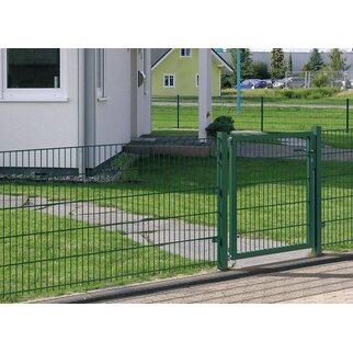 Metallzaun Doppeltor für Doppelstabmatte Grün z. Einbetonieren 80 ...