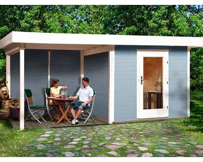 Obi Holz Gartenhaus Florenz B Gr 3 Grau Weiss Bxt 530x240 Cm Davon 295 Cm Terr Kaufen Bei Obi