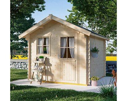 Skan Holz Holz Gartenhaus Porto 1 Natur B X T 250 Cm X 200 Cm Kaufen Bei Obi