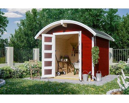 Skan Holz Holz Gartenhaus Delft Schwedenrot B X T 250 Cm X 250 Cm Kaufen Bei Obi