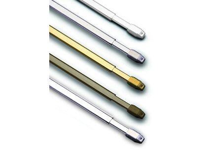 silber-matt Schraubhaken 2 Stück Vitragestangen Breite 30-50 cm inkl