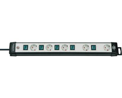 Brennenstuhl Steckdosenleiste Premium-Alu-Line Technik 12-fach schwarz