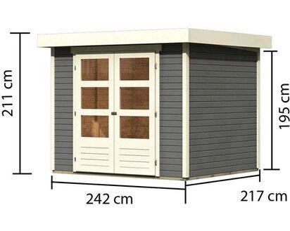 Karibu Modul Holz Gartenhaus Raala 3 Tur Modern Terragrau Bxt 242x217cm Kaufen Bei Obi