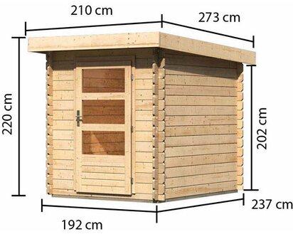Karibu Holz Gartenhaus Angelholm 1 Natur Bxt 175 Cm X 220 Cm Kaufen Bei Obi