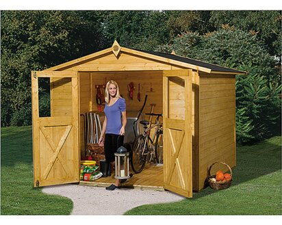 Weka Holz Gartenhaus Parma D Eiche Hell Bxt 254 Cm X 250 Cm Kaufen Bei Obi