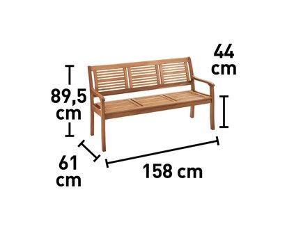 Gartenbank Chelsea 3 Sitzer Fsc 90 Cm X 158 Cm X 62 Cm Kaufen Bei Obi