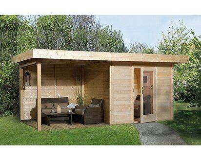 Obi Holz Gartenhaus Florenz B Grosse 3 Natur Bxt 530 X 240 Cm Davon 295 Cm Terr Kaufen Bei Obi
