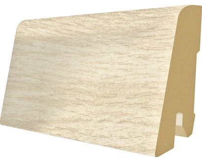 Holz Optik wei/ß grau EGGER Au/ßenecke Sockelleiste Eiche weiss f/ür einfache Montage von 60mm Laminat Fu/ßleisten Kunststoff robust Inhalt 2 St/ück