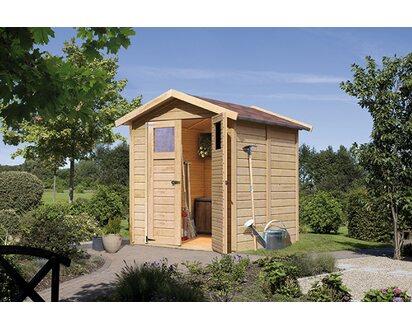 Karibu Holz Geratehaus Ostersund 3 Natur B X T 177 Cm X 181 Cm Kaufen Bei Obi