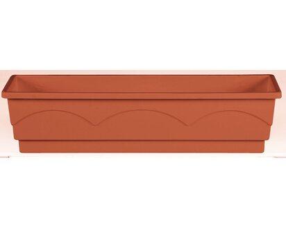 Emsa Blumenkasten LAGO Pflanzkasten braun 50 cm  Bewässerungssystem 2,1 L