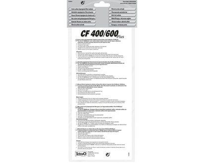 4 St/ück Tetra Aktivkohle CF 400//600 plus Filtermaterial f/ür IN plus Innenfilter