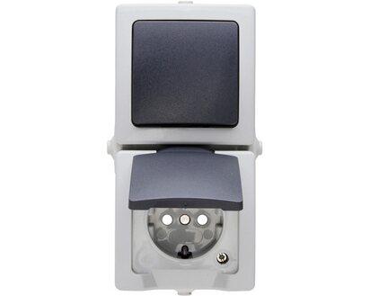 Wechselschalter Nautic Grau 565656001 Kopp   Ausschalter