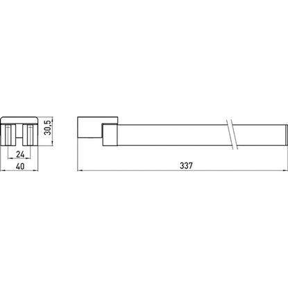 emco loft handtuchhalter zweiarmig schwenkbar chrom kaufen bei obi. Black Bedroom Furniture Sets. Home Design Ideas