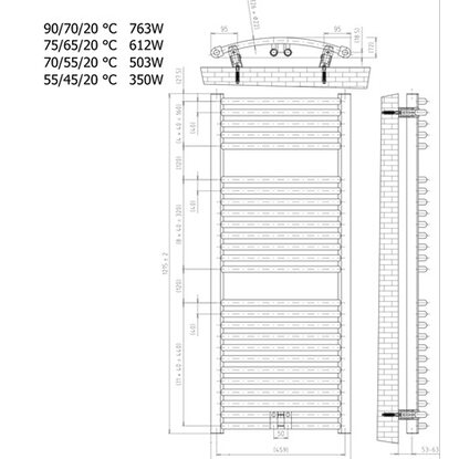 schulte design heizk rper m nchen rund mit mittenanschluss 758 w alpinwei kaufen bei obi. Black Bedroom Furniture Sets. Home Design Ideas