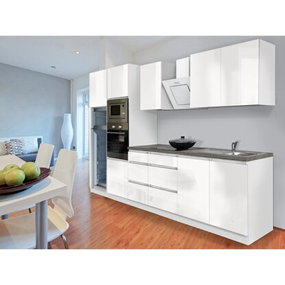 Küchenzeile Hochglanz Weiß : respekta premium k chenzeile grifflos 335 cm wei hochglanz wei kaufen bei obi ~ Orissabook.com Haus und Dekorationen