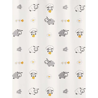 OBI Duschvorhang Sheep 180 cm x 200 cm Multicolor