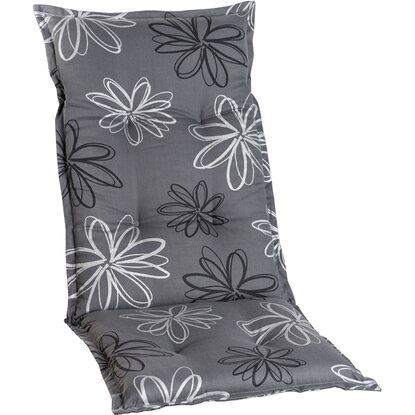 hochlehner auflage norderney grau mit blume kaufen bei obi. Black Bedroom Furniture Sets. Home Design Ideas