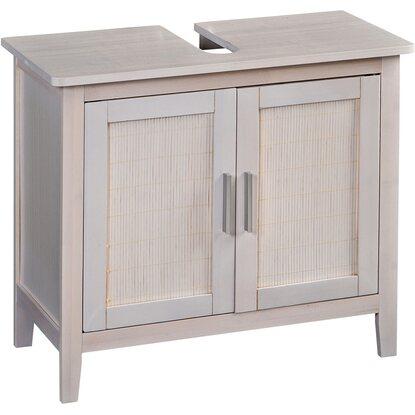 eisl bambus waschbeckenunterschrank wei kaufen bei obi. Black Bedroom Furniture Sets. Home Design Ideas