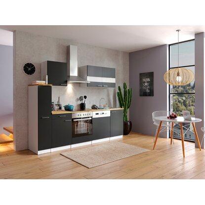 respekta k chenzeile kb250wsc 250 cm schwarz wei kaufen bei obi. Black Bedroom Furniture Sets. Home Design Ideas