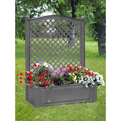 khw pflanzkasten gro mit spalier grau kaufen bei obi. Black Bedroom Furniture Sets. Home Design Ideas