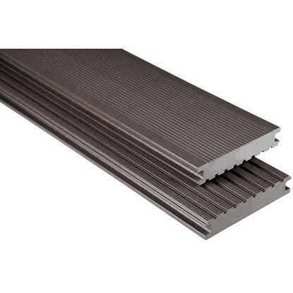 kovalex wpc terrassendiele vollprofil 2 6 cm x 14 5 cm graubraun meterware kaufen bei obi. Black Bedroom Furniture Sets. Home Design Ideas