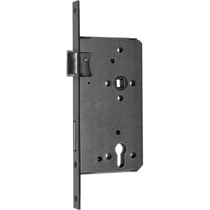 Bekannt Haustürschloss für Profilzylinder DIN rechts Silber lackiert ZV56