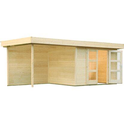 wolff finnhaus holz gartenhaus calais mit anbau r ckwand b x t 555 cm x 244 cm kaufen bei obi. Black Bedroom Furniture Sets. Home Design Ideas