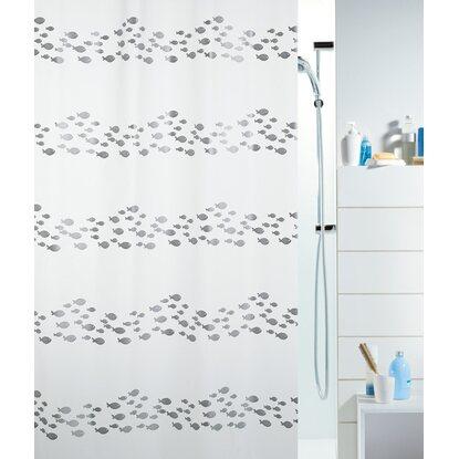 spirella duschvorhang shore 180 cm x 200 cm silver kaufen bei obi. Black Bedroom Furniture Sets. Home Design Ideas