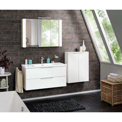 fackelmann waschbeckenunterschrank 100 cm scera pinie struktur wei wei matt kaufen bei obi. Black Bedroom Furniture Sets. Home Design Ideas