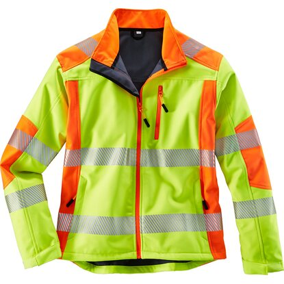 Herren Softshelljacke Gelb-Orange Gr. 4XL