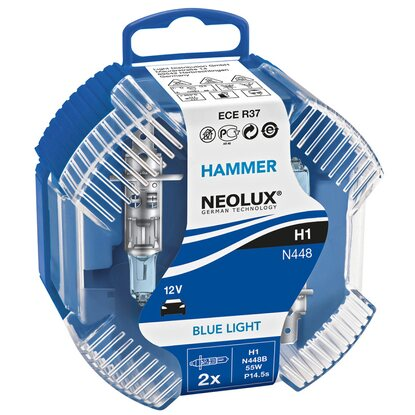 Scheinwerfer-Lampe H1 Hammer Blue Light 2er Box