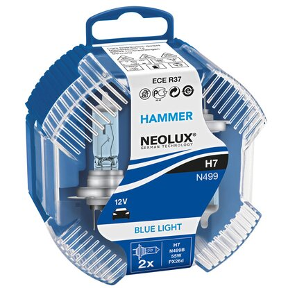 Scheinwerfer-Lampe H7 Hammer Blue Light 2er Box
