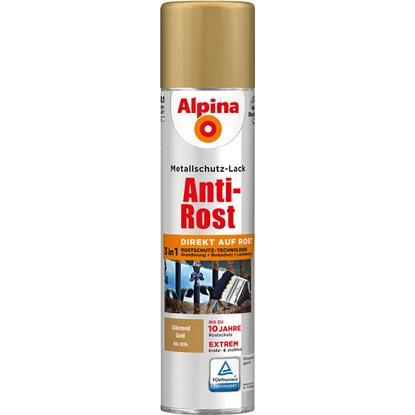 alpina metallschutz lack anti rost spray gold gl nzend 400 ml kaufen bei obi. Black Bedroom Furniture Sets. Home Design Ideas