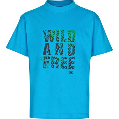 Bullstar Kinder-T-Shirt Wild and Free Blau Gr. 158/164
