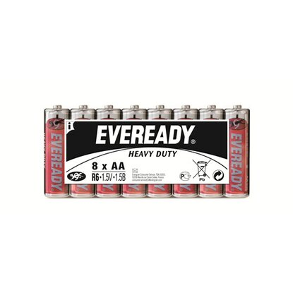 Eveready Heavy Duty Kohle-Zink Batterie Mignon AA 8 Stück