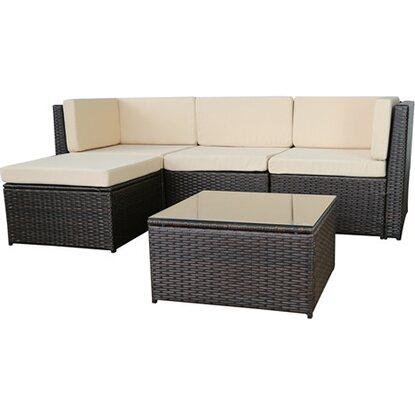 Gartenfreude loungegruppe relax polyrattan 13 tlg for Polyrattan loungemobel