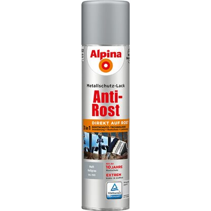 Alpina Metallschutz-Lack Anti-Rost Spray Hellgrau matt 400 ml