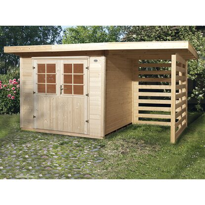 obi holz gartenhaus la spezia b x t 385 cm x 209 cm davon 150 cm anbaudach kaufen bei obi. Black Bedroom Furniture Sets. Home Design Ideas