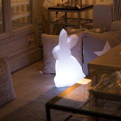8 seasons design beleuchteter hase 50 cm wei kaufen bei obi. Black Bedroom Furniture Sets. Home Design Ideas