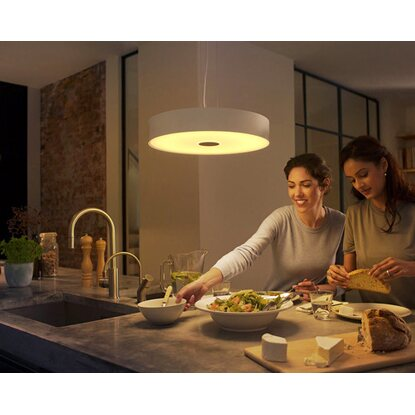 Philips Hue LED-Pendelleuchte Fair Weiß EEK: A