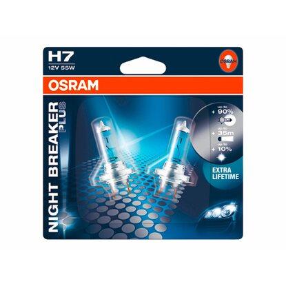 osram h7 halogen scheinwerferlampe night breaker plus 2er. Black Bedroom Furniture Sets. Home Design Ideas
