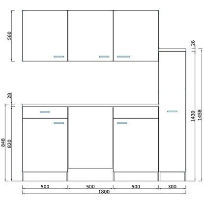 respekta economy k chenzeile kb180bgc 180 cm grau buche kaufen bei obi. Black Bedroom Furniture Sets. Home Design Ideas