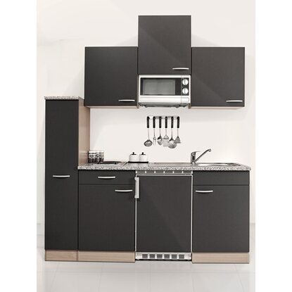 respekta economy k chenzeile kb180bgmic 180 cm grau buche kaufen bei obi. Black Bedroom Furniture Sets. Home Design Ideas