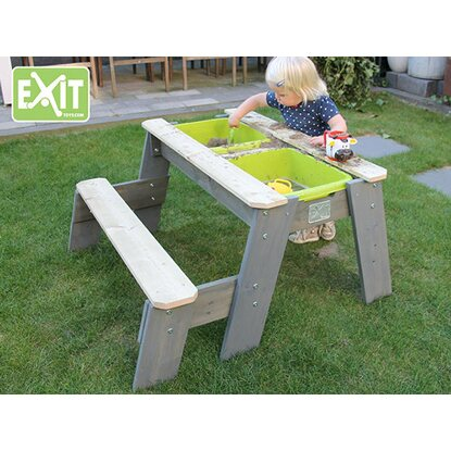 exit sand wasser picknick tisch aksent mit 1 sitzbank. Black Bedroom Furniture Sets. Home Design Ideas