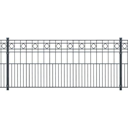 Gut gemocht Metallzaun-Set Turin Höhe 80 cm Länge 21,2 m Anthrazit kaufen bei OBI YU63