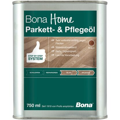 Bona Home Parkett- & Pflegeöl Braun 750 ml