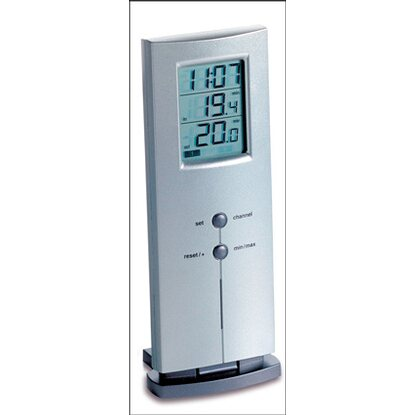 TFA Funk-Thermometer Logo  Silber