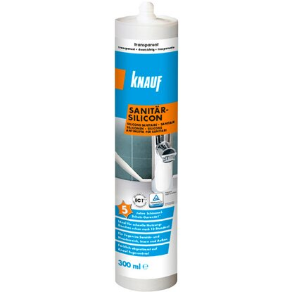 Knauf Sanitär-Silikon Transparent 300 ml