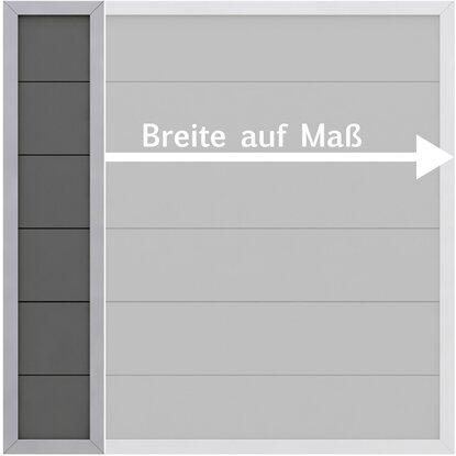 sichtschutzzaun element design wpc alu anthrazit h he 180 cm ma breite kaufen bei obi. Black Bedroom Furniture Sets. Home Design Ideas